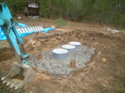 市岡邸新築工事: 浄化槽の設置
