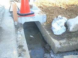 松宮邸新築工事: 側溝の設置